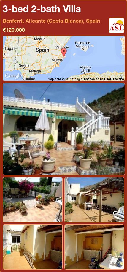 Villa For Sale In Benferri Alicante Costa Blanca Spain